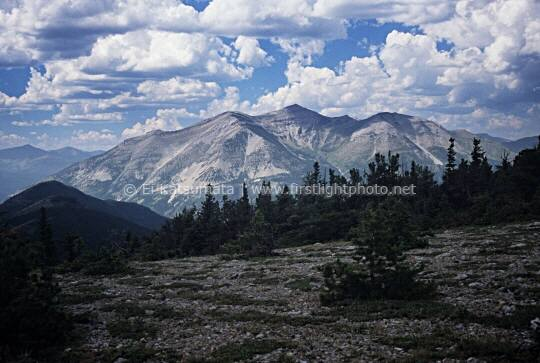 View from Lookout Ridge Pass, Bob Marshall Wilderness, Montana