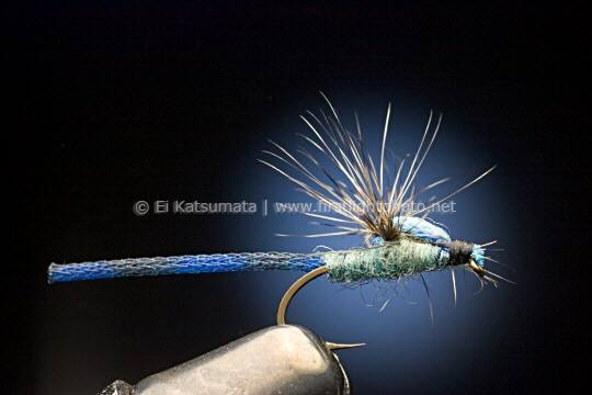 Damselfly trout fly imitation