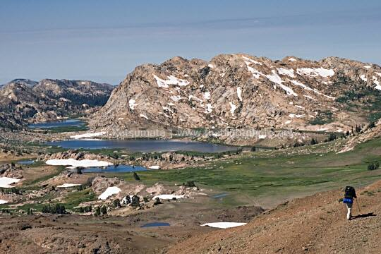 Emigrant Meadow Lake from the slopes of Big Sam, Emigrant Wilderness Area, California