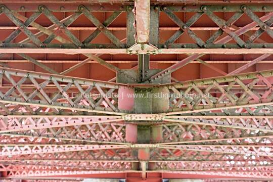 Structural support detail under the approach to the Golden Gate Bridge, San Francisco, California